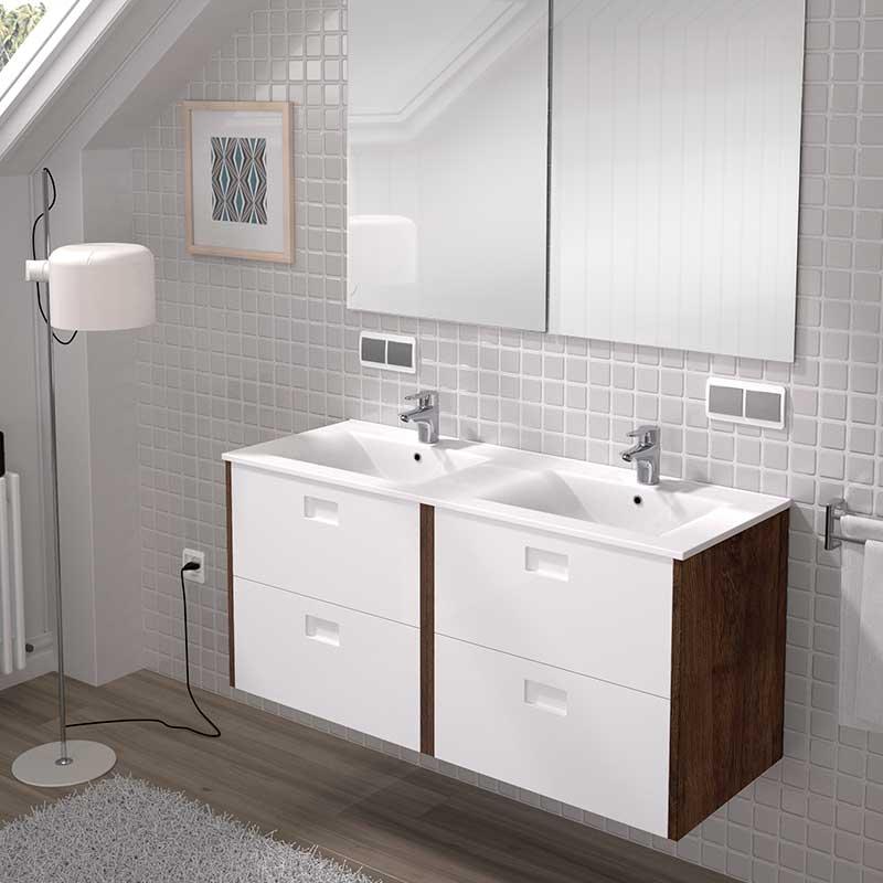 Mueble de ba o suspendido materiales y accesorios louro - Materiales de bano ...